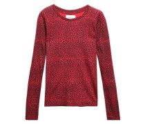 Leopard-print Cotton-jersey Top Red Size 1