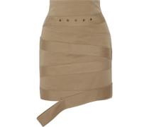 Cotton-canvas mini skirt