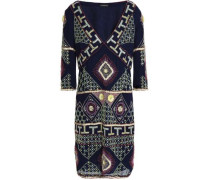Embellished Georgette Dress Navy