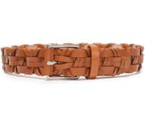 Woven Leather Belt Light Brown