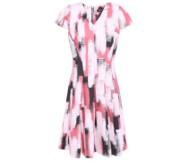 Fresh Perspective Flared Printed Scuba Dress Pastel Pink