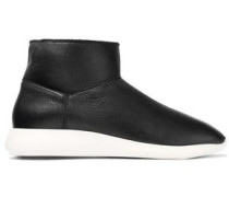 Adora Shearling Ankle Boots Black