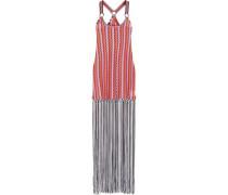 Mare Fringed Crochet-knit Maxi Dress Multicolor