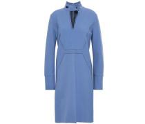 Cutout Wool-blend Crepe Dress Light Blue