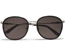 D-frame Gold-tone And Acetate Sunglasses Black Size --
