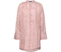 Lea Zebra-print Cotton-gauze Tunic Coral