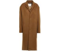 Woman Wool And Cashmere-blend Felt Coat Light Brown