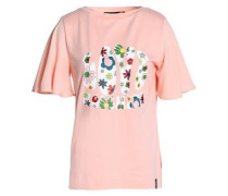 Printed cotton and modal-blend jersey T-shirt