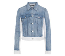 Harlow Two-tone Denim Jacket Light Denim