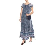 Florral-print silk-chiffon maxi dress