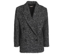 Double-breasted wool-blend bouclé-tweed blazer