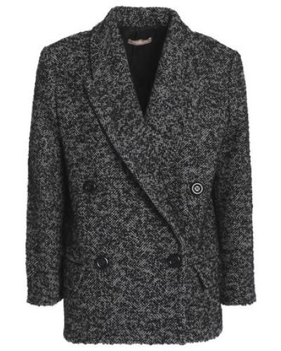 Double-breasted wool-blend bouclé-tweed blazer