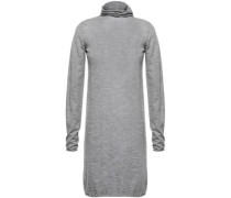 Woman Mélange Cashmere Turtleneck Top Gray