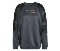 Paneled French terry sweatshirt
