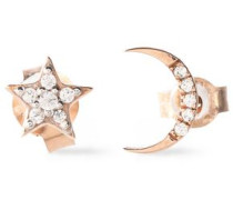 Rose-gold tone crystal earrings