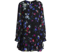 Rachel floral-print silk mini dress