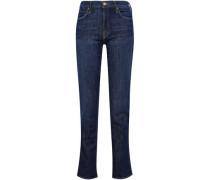 High-rise Straight-leg Jeans Dark Denim  5