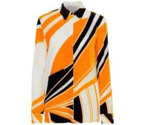 Devoré-chiffon Shirt Orange