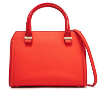 Woman Two-tone Textured-leather Shoulder Bag Coral