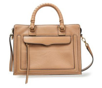 Pebbled And Smooth-leather Tote Sand Size --