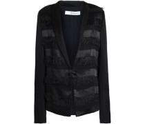 Fringed Jacquard Jacket Black