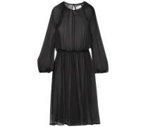 New Angel Silk-chiffon Midi Dress Black