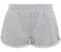 Mélange French cotton-blend terry shorts