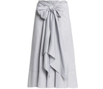 Tie-front cotton skirt