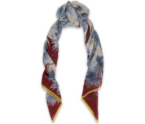 Printed Silk And Cotton-blend Gauze Scarf Neutral Size --