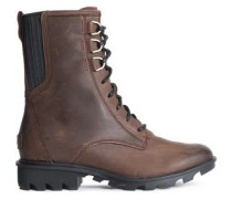 Phoenix Lace-up Leather Ankle Boots Chocolate