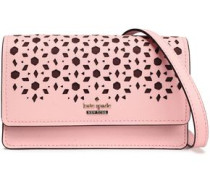 Laser-cut Textured-leather Shoulder Bag Baby Pink Size --