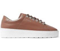 Leather Platform Sneakers Light Brown