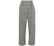 Kool Aid Prince Of Wales Checked Wool Straight-leg Pants Black