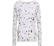 Mélange Printed Cashmere Sweater Stone