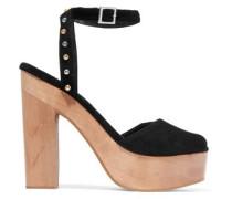 Flash studded suede platform sandals