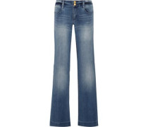 Mid-rise Flared Jeans Blue Size 00