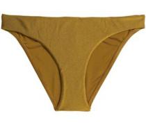 Metallic low-rise bikini briefs
