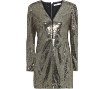 Sydney Sequined Tulle Mini Dress Gold Size 00