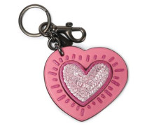 Embellished Leather Keychain Pink Size --