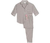 Striped modal-blend jersey pajama set
