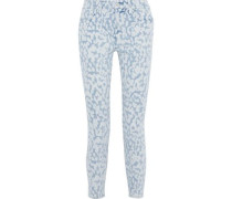The Stiletto Cropped Bleached High-rise Skinny Jeans Light Denim  3