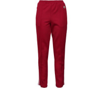 Woman Striped Jersey Track Pants Claret