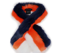 Printed faux fur scarf