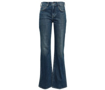 Faded Mid-rise Flared Jeans Mid Denim  3