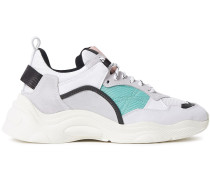 Curve Runner Color-block Leather, Suede And Mesh Sneakers
