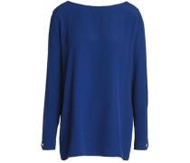 Cutout crepe blouse