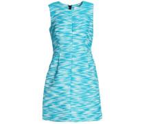 Cotton-blend jacquard mini dress