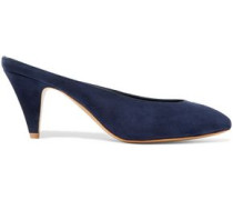 Suede Mules Storm Blue