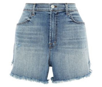 Joan Distressed Denim Shorts Mid Denim  3