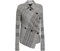 Woman Prince Of Wales Checked Wool-blend Blazer Light Gray